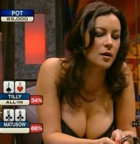 holdem poker lady player